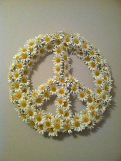 peace & daisies.  Good combo