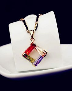 Chain length: 41cm Extension: 7cm Pendant size: 2.8cm   Enjoy worldwide FREE SHIPPING on all jewelry items!