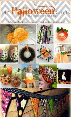 DIY Halloween Crafts - tons of tutorials! - {The Ribbon Retreat Blog}