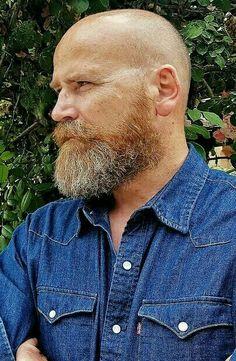 Amazing Beards For Balding Head For Men Over 40 Years 27 Bald Men With Beards, Bald With Beard, Grey Beards, Bald Head Man, Bald Heads, Moustache, Beard No Mustache, Beard Styles For Men, Hair And Beard Styles