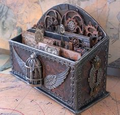 Safari Steampunk Anyone? Steampunk is a rapidly growing subculture of science fiction and fashion. Casa Steampunk, Design Steampunk, Style Steampunk, Steampunk Crafts, Steampunk Costume, Victorian Steampunk, Steampunk Fashion, Steampunk Bedroom, Fashion Goth