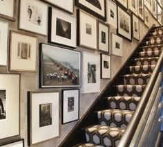 gallery wall on staircase - Classic, gotta love it