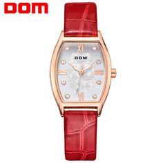 US $59.80 - DOM women luxury brand watches waterproof style quartz leather gold watch reloj hombre marca de lujo G-1022