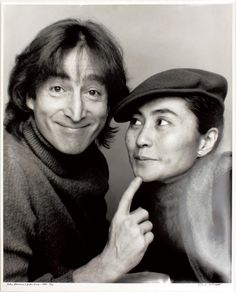 John Lennon & Yoko Ono, 1980  (By Jack Mitchell)