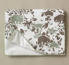Woodland Tumble Flannel Stroller Blanket - contemporary - baby bedding - by DwellStudio