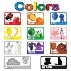 the colors in english for kids