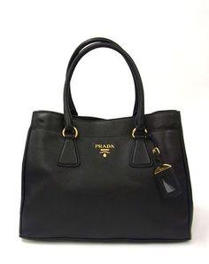 1bbad02acae4c PRADA SHOPPING bag VITELLO DAINO in Nero B4393M