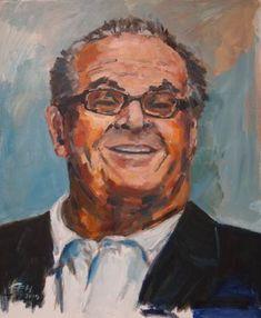 Original Portrait Painting by Ellen Fasthuber-huemer Oil Painting On Canvas, Canvas Art, Original Paintings, Original Art, Jack Nicholson, Photorealism, Modern Impressionism, Buy Art, Saatchi Art