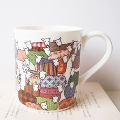 Colorful Sheep Mug - by Mary Kilvert on Etsy