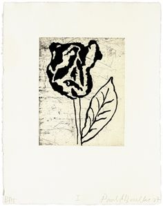 DONALD BAECHLER - FIVE FLOWERS (1) - KUNZT.GALLERY http://www.widewalls.ch/artwork/donald-baechler/five-flowers-1/ #Print