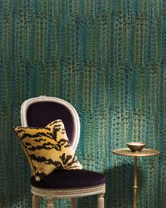 Plume wallpaper from Place Dauphine 2014. www.nobilis.fr