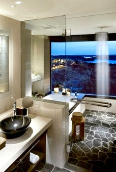 Superb shower area- especially like the tiles in it and the shower