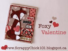 What Does the Fox Say Valentine Scrapbook Card My Mind's Eye