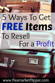 Download our guide to finding free items to flip for a profit!