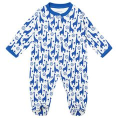 Blue Giraffe Baby Sleepsuit, Baby Sleepsuits and Bodies, Baby Clothes