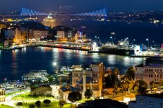 iStAnBuL.  A little down from Eminönü, view of Galata and Bosphorus Bridges.