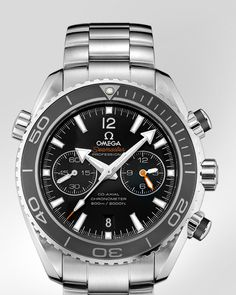 OMEGA Watches: Seamaster Planet Ocean 600 M Omega Co-Axial Chronograph 45.5 mm - Steel on steel - 232.30.46.51.01.001