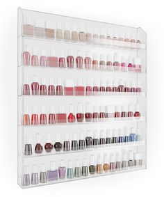 """20""""W x 24""""T x 2""""D  Another great find on #zulily! 102-Bottle Nail Polish Wall Rack by Home It #zulilyfinds"""