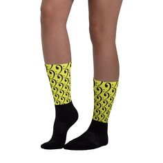 Socks - Bass Clef on Yellow