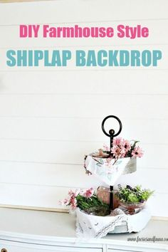 Build a inexpensive moveable shiplap backdrop for diy wall art. Diy Wall Art, Diy Wall Decor, Diy Home Decor, Diy Crafts For Adults, Fun Crafts, Decor Crafts, Farmhouse Design, Farmhouse Decor, Rustic Decor