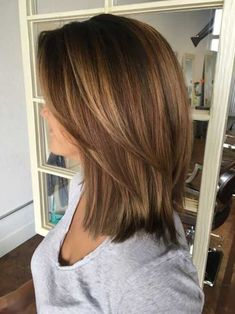 Hottest Easy medium length Hair Trends in Every Color for 2019 – Page 25 …. Hottest Easy medium length Hair Trends in Every Color for 2019 – Page 25 … – Haar Ideen – Hair Color Caramel, Short Caramel Hair, Caramel Brown Hair, Medium Hair Cuts, Medium Length Hair With Layers Straight, Hair Cuts Straight, Shoulder Length Hair Cuts With Layers, Shoulder Length Haircuts, Medium Fine Hair