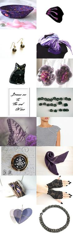 Lovely Etsy Treasury with unique purple gifts..... Cute hat by Whimzingers..... Cute desk accessory bowl.... Purple Pops by Julia on Etsy--Pinned+with+TreasuryPin.com