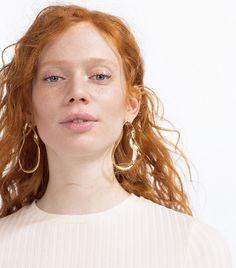 Zara Twisted Hoop Earrings