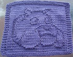 Free Patterns Christmas Dish Cloths | DigKnitty Designs: Bulldog Knit Dishcloth Pattern