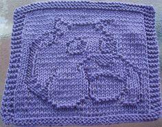 Free Patterns Christmas Dish Cloths | DigKnitty Designs: Bulldog Knit Dishcloth Pattern