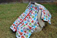Superhero carseat canopy cover shade tent by LilacsAndLeopards