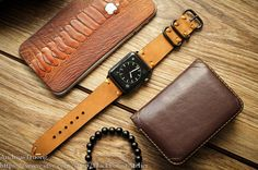 Handmade Vintage Leather Band Nato N2 incl. by BlackForestAtelier