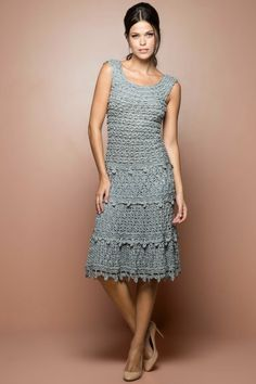 Vestido Crochet Villeneuve Céu - Vanessa Montoro - vanessamontoro
