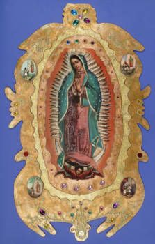 The Virgin of Guadalupe, 1994 :: Library Exhibits Collection Usc Library, University Of Southern California, Cinema Posters, Illuminated Manuscript, Black History, Digital Image, Art Decor, Drawings, Illustration