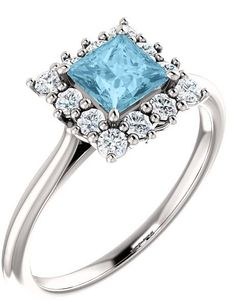 15 Alluring Aquamarine Engagement Rings From Here to Eternity - #engagement #engagementring #aquamarine #ring #rings