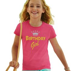 BIRTHDAY GIRL - Girl's Birthday T Shirt - Great gift idea for her special day #FruitoftheLoomGildanetc #TShirt