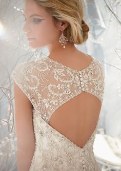 Elaborately beaded bridal gown from Bridal by Mori Lee
