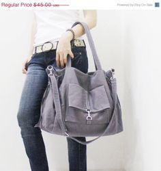 30b35a030e61 Back To School SALE - 20% OFF EZ in Dark Gray   Crossbody   diapers bag   Shoulder  Bag   School bag   Purses   tote   women   For Her
