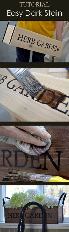 Easy stain tutorial for exterior cedar projects!  #tutorial #DIY