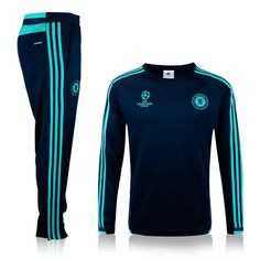 boutique officiel Nouveau Champions league Survetement de foot Chelsea Noir 2015 2016 pas cher