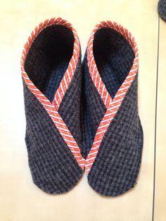 Nice felted slipper tutorial, AnnaLenaLand