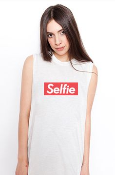 Selfie Tank by Petals and Peacocks.   HAHAHA.   @Lindsay Dillon. @Kristen I thought I would share this with you!!!!