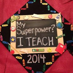 Because teachers are heroes #Graduation Cap