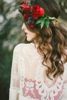 Rote Hochzeits-Inspiration.