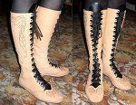 Elven boots with embroidery  by ~scargeear. Includes downloadable pattern.