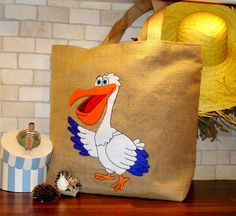Jute Tote bag handmadeartisticapplique by Apopsis on Etsy, $80.00