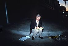 Tom Brokaw preparing for a live broadcast in the aftermath of the 1989 Loma Prieta earthquake. Tom Brokaw, Rowing Blazers, News Media, Present Day, Sounds Like, Net Worth, Toms, San Francisco, Concert