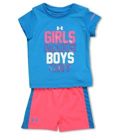 under armour kids. under armour kids girls rule tee set (infant)