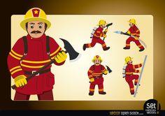 http://www.vectoropenstock.com/vectors/preview/69773/action-fireman-poses
