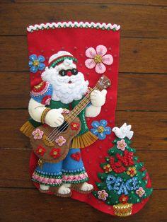 Bucilla Love & Peace Santa - Completed