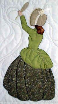 """bonnet girl quilt patterns 6.50 They are all single blocks (15"""" x 22"""")"""